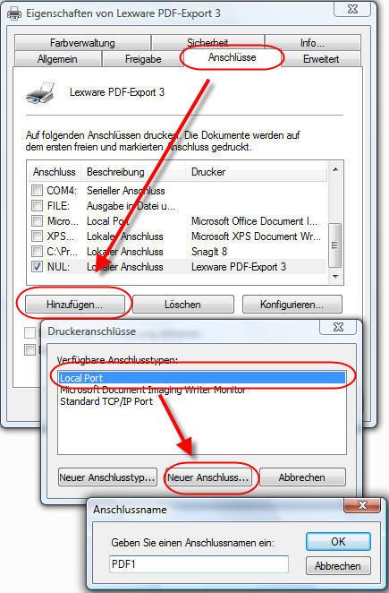 PDF-Drucker einrichten